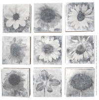 flower abstracts (set of 9)